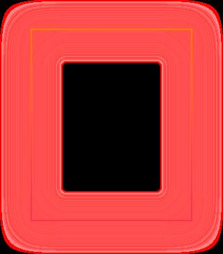 Punainen kehys.